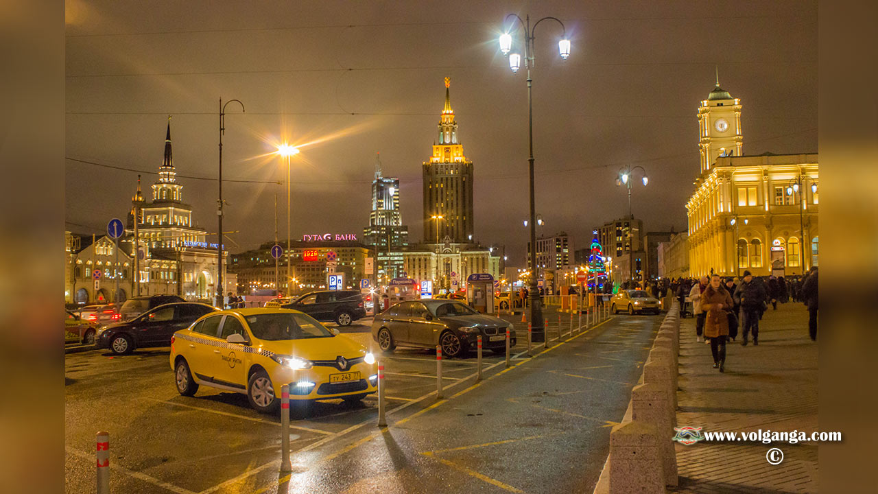 Moscow night in light
