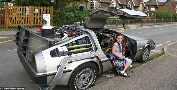Time machine. Delorean from Back to the Future