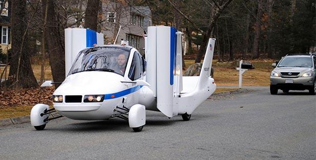 Airplane on car