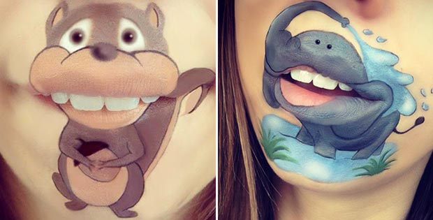 squirrel lips makeup and elephant lips makeup