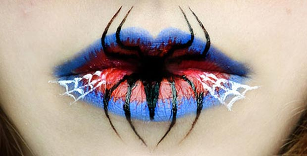spider lips makeup