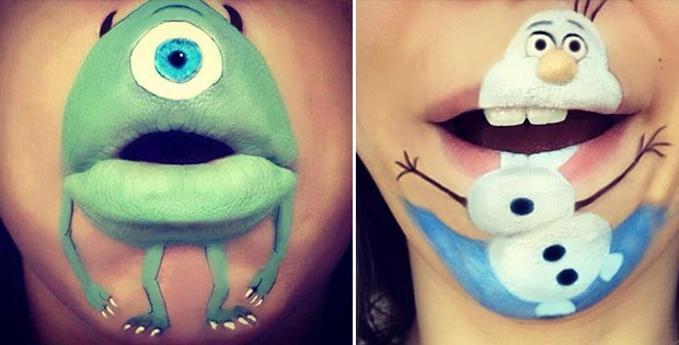 cartoon lips makeup