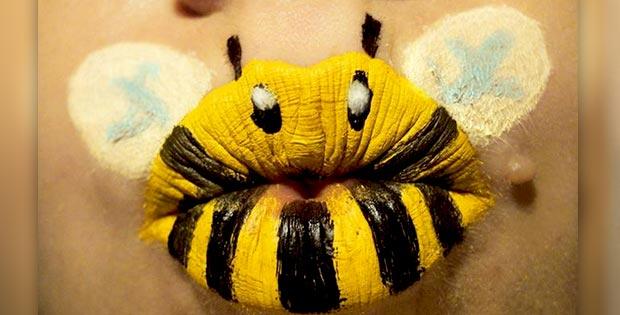 bee lips makeup