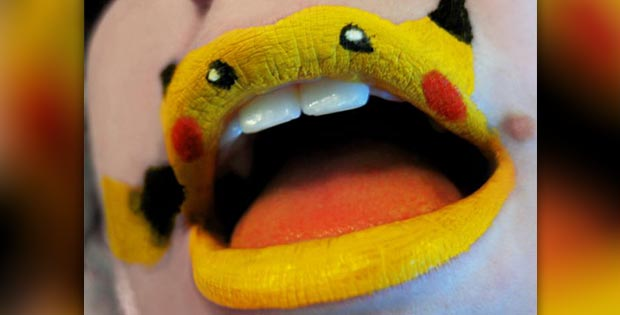 pikachu lips makeup