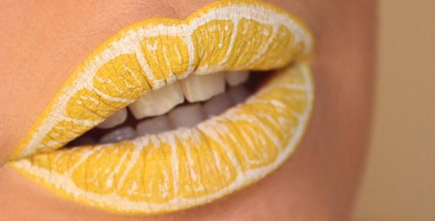 lemon lips makeup