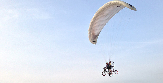 Parachute bicycle