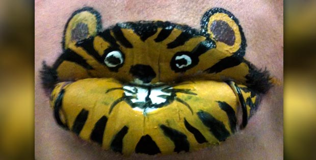 tiger lips makeup