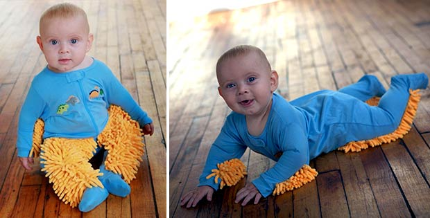 Baby mop clothes