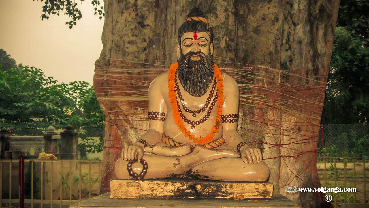 Buddha sittin under the tree in Sarnath