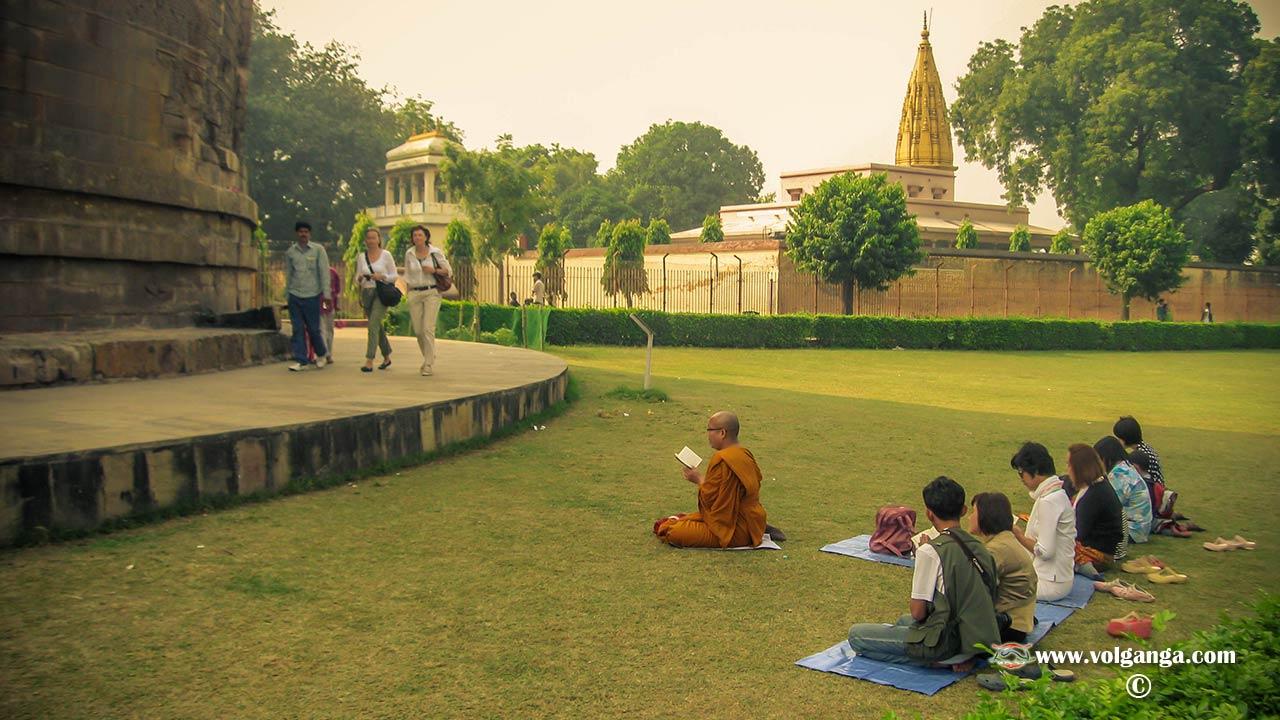 Buddhists at Sarnath