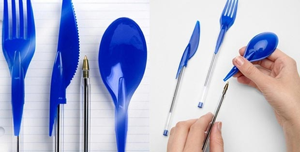 Dinner-utensils-cum-pen-caps