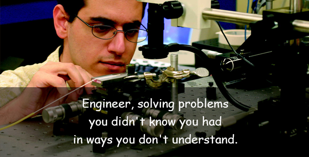 Funny quote about engineer
