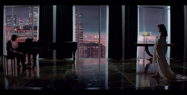 "Shot from ""Fifty Shades of Grey"""