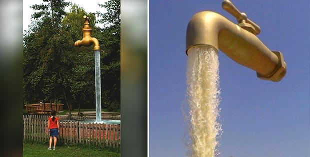 Giant tap at Technopark, Winterthur, Switzerland