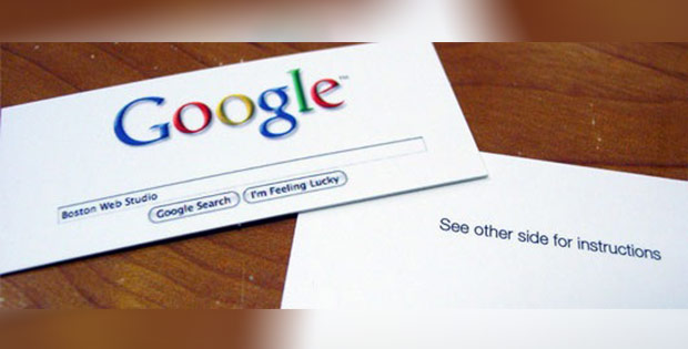 google search business card