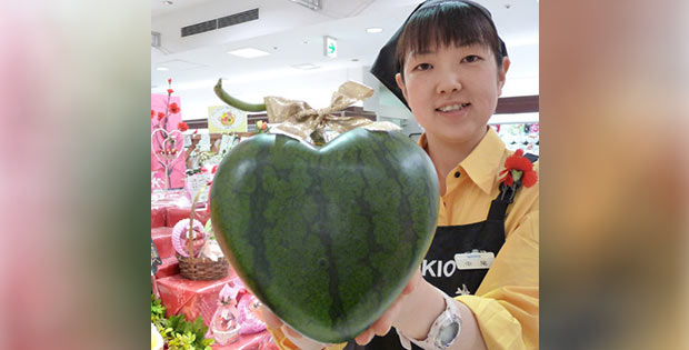heart-shaped watermelon