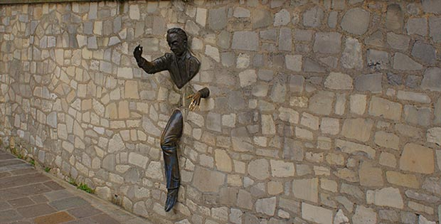 Man in the wall, Paris, France