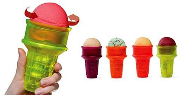 Motorized ice-cream cone