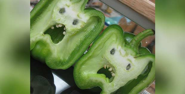 scared-carved bellpeppers