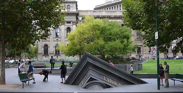Sinking library, Melbourne, Australia