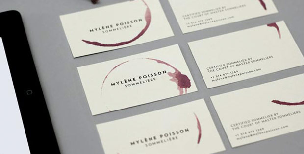 sommelier business cards