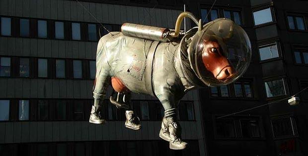 Space cow, Stockholm, Sweden