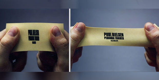 stretchable business card