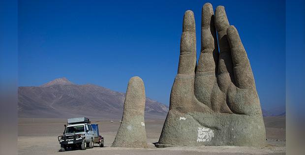 The Giant Hand, Atacama desert, Chile