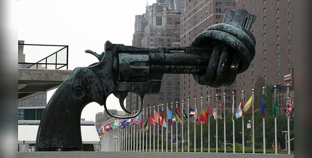 The Knotted Gun, United Nations Headquarters, New-York, USA