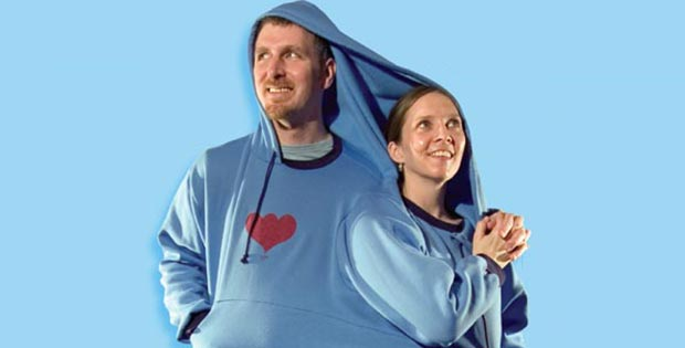 two-person sweatshirt