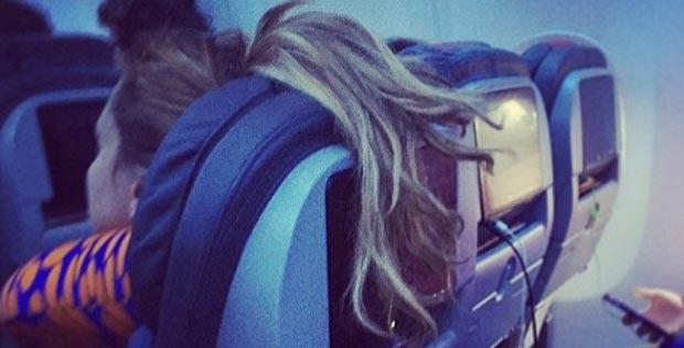 weird sleeping girl-passenger