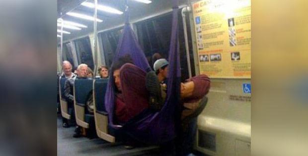 Weird sleeping train passenger