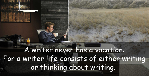 Funny quote about writer