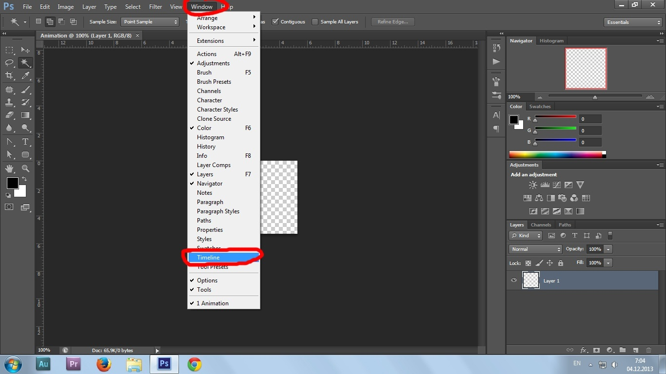 04. Gif animation in Photoshop CS6 tutorial