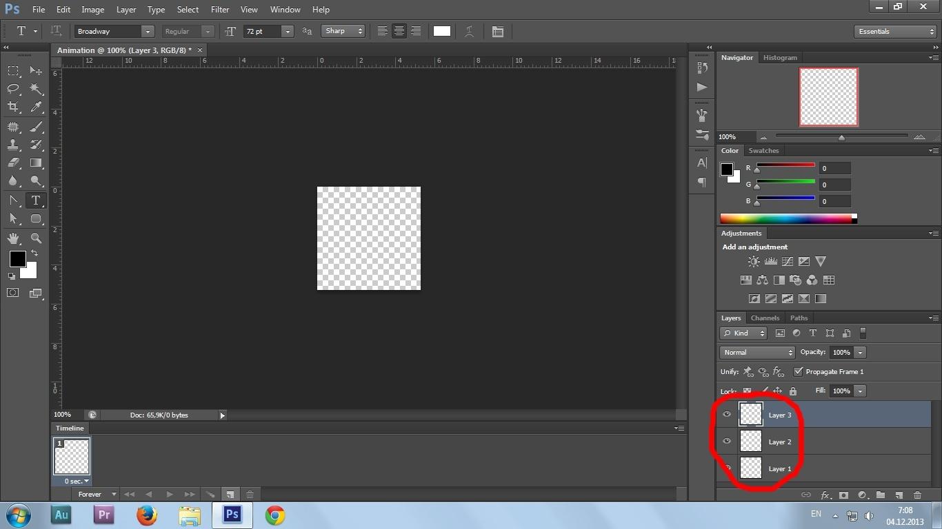 07. Gif animation in Photoshop CS6 tutorial