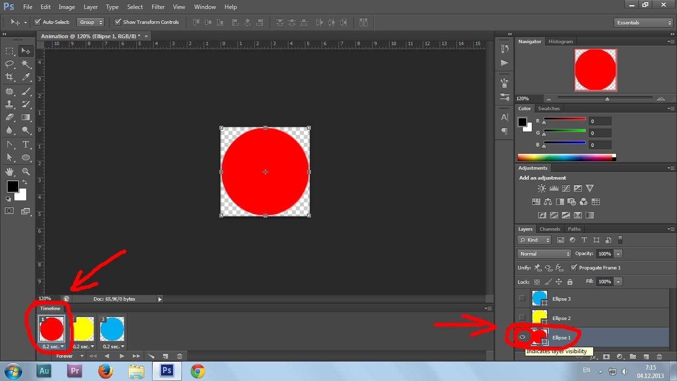 10. Gif animation in Photoshop CS6 tutorial