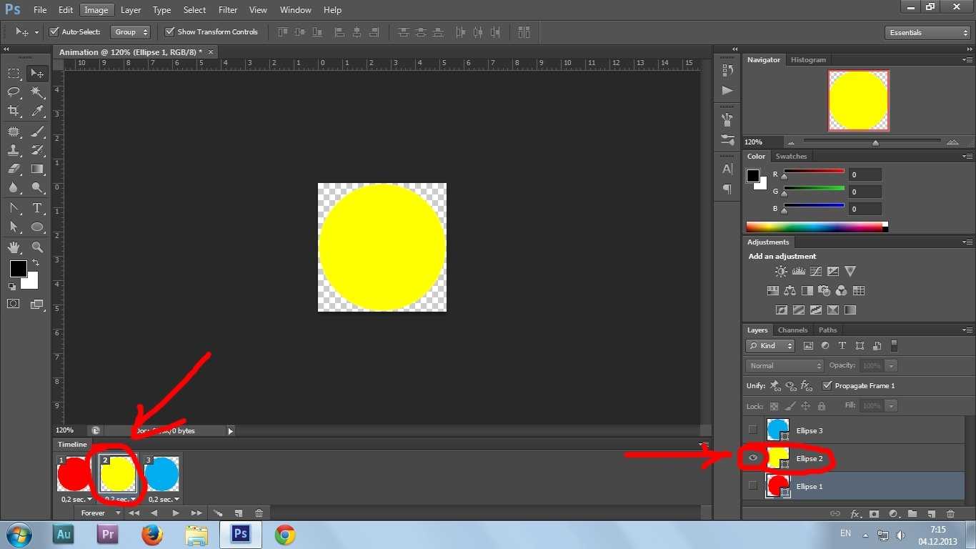 11. Gif animation in Photoshop CS6 tutorial