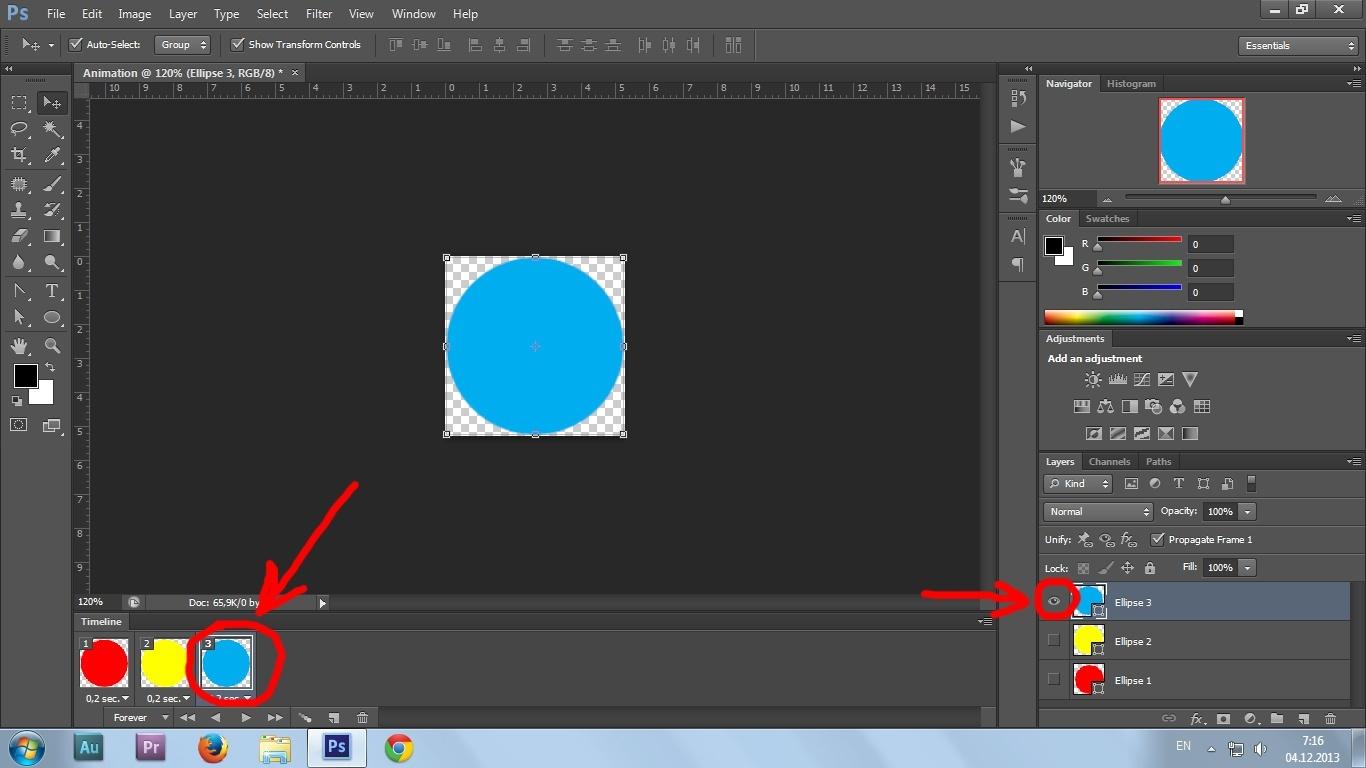 12. Gif animation in Photoshop CS6 tutorial