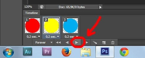 14. Gif animation in Photoshop CS6 tutorial