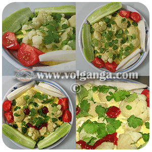 Omelette with cauliflower. Enjoy your tasty and healthy meal :)