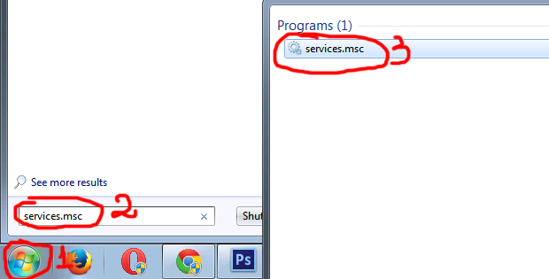 Step 2. Opening services.msc to enable DWM