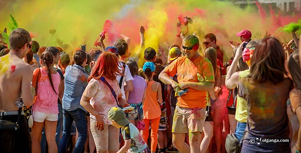 Holi 2015 In Yaroslavl. City day
