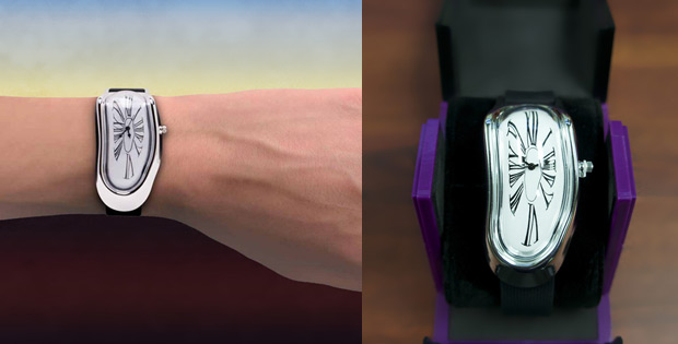 Melted watch inspired by Salvador Dali