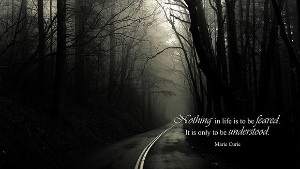 Nothing in life is to be feared. It is only to be understood. (Marie Curie)