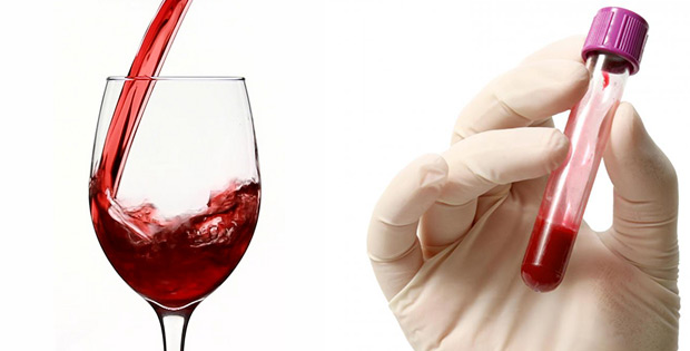 Red wine in little doses purifies blood