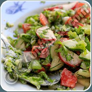Summer salad. Step 10 serving
