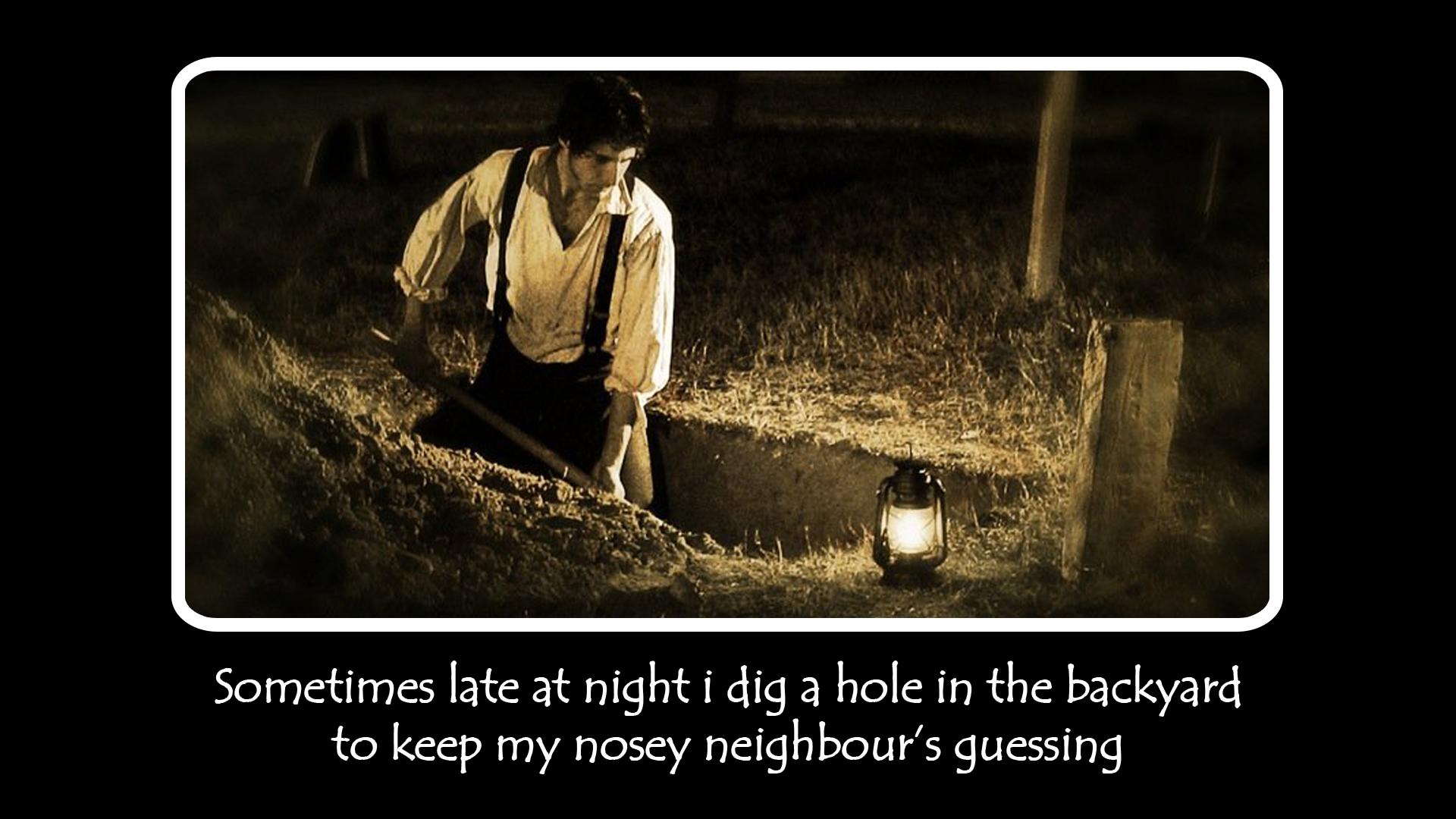 Digging A Hole At Night