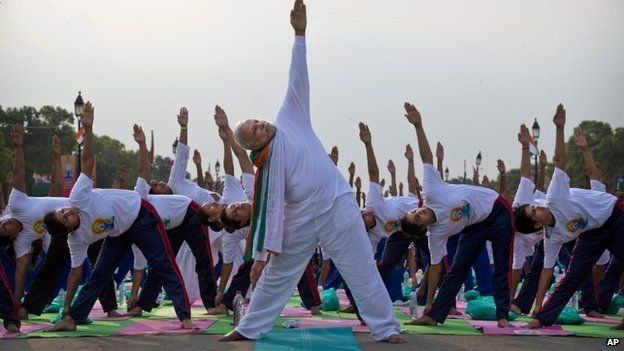 Prime Minister Narendra Modi at International Day of Yoga in Delhi