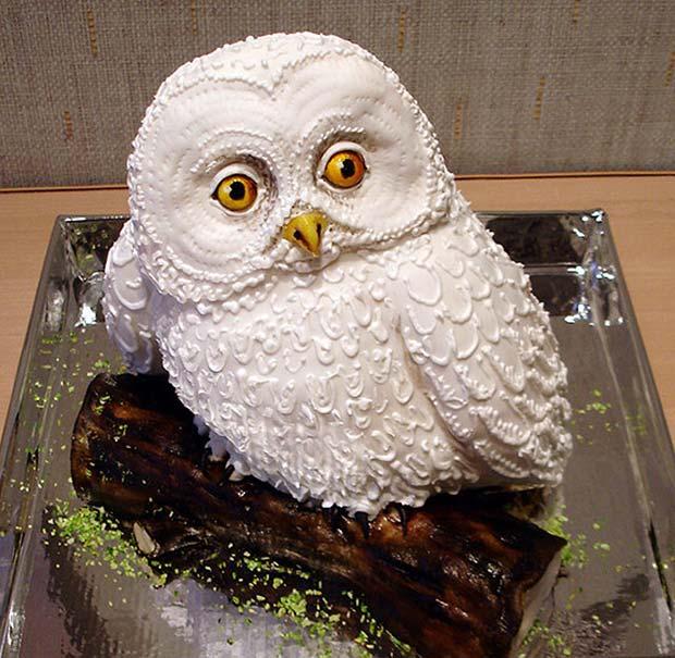 Awesome owl cake