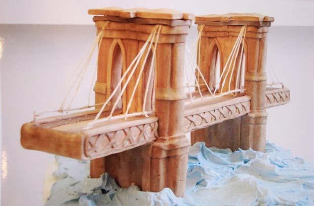 Awesome bridge cake